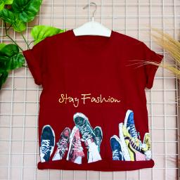 BR20252 - FASHION MAROON TSHIRT TUMBLR TEE
