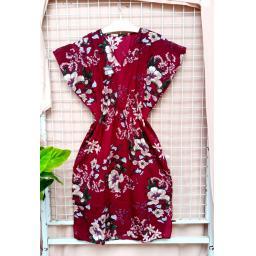 BR20389 - DRESS FLOWER MAROON