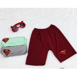 BR21592-1 - CELANA PENDEK ANAK SUPERMAN - Hijau Mint - Size M