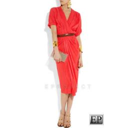BR03757 - 675 ORANYE DRESS+BELT.