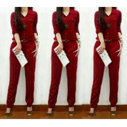 BR04550 - JUMPSUIT EMILY MAROON