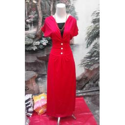 BR04645 - DRESS RED COMEBLACK