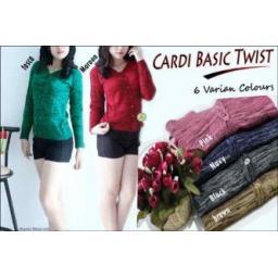 BR05284 - CARD BASIC TWIST - brown