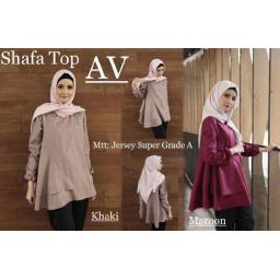 BR5303 - C16027 NEW SHAFA TOP PEPLUM (AV COLLECTION) - khaki