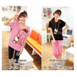 BR6691 - 2550-138 ST HELLO KITTY RANTAI - baju pink