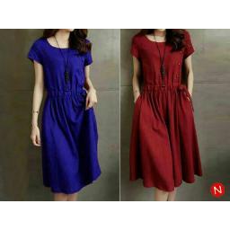 BR06705 - MAGUMI DRESS - biru
