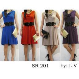 BR06916 - dress sr 201 - biru