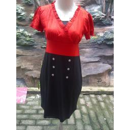 BR07347 - DRESS ALENA BLACK RED