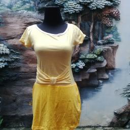 BR09373 - SALE DRESS SALUR YELLOW