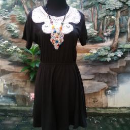 BR09676 - SALE DRESS RENDA BLACK