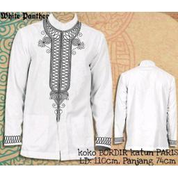 BR15069 - KEMEJA KOKO PANTHER WHITE